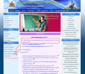Visit the official website of Department of Instructions, Government of Karnataka